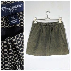 Madewell Gold Metallic Skirt